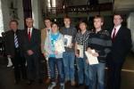 CFG-Preisträger: Marvin Linnemann (2. v.r.), Mirko Engelpracht (3. v.r.), Oliver Wroblowski (4.v.r)