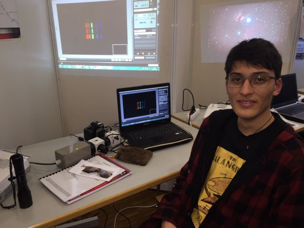 Karlo Sanque begeisterte mit der spektroskopischen Vermessung der Radialgeschwindigkeit der Andromeda-Galaxie, Foto: K. Jehmlich