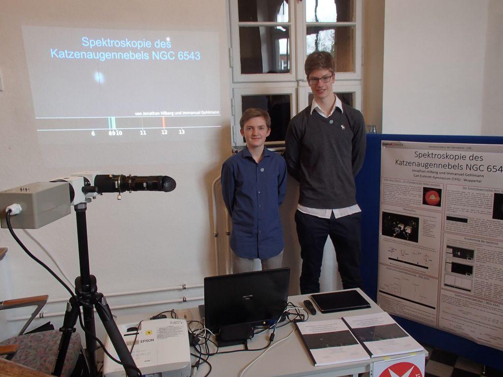 Immanuel Gehlmann und Jonathan Hilberg - Spektroskopie Katzenaugennebel