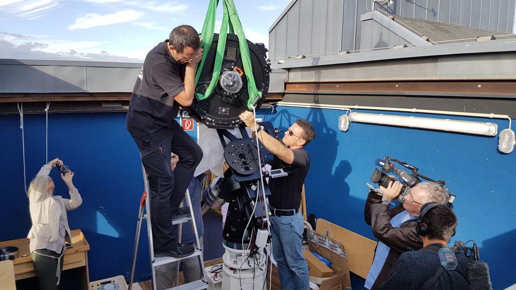 Aufsetzten des Teleskops
