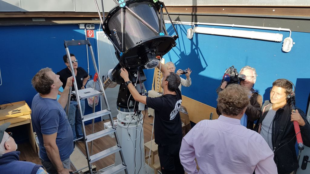 Montage des Teleskops