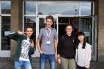 Die vier CFG-Finalisten (von links nach rechts: Aaron Schnütgen, Justus Fleisch, Johanna Thielemann und Thuy Nguyen)