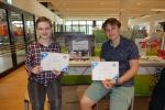 Fanni Fiedrich und Rosalie Volmer gewannen den Wettbewerb PRINT IT