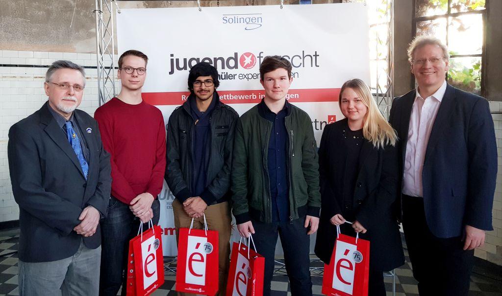 Die Erstplatzierten des Regionalwettbewerbs Jufo 2019