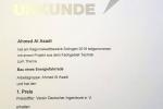 Urkunde Ahmed Al Asadi Platz 1
