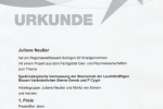 Urkunde Juliane Neusser Platz 1