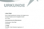 Urkunde Lukas Pajak Platz 1