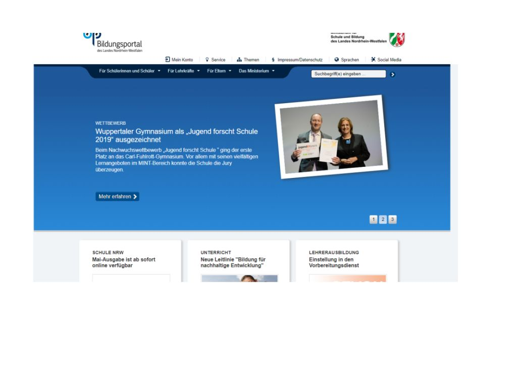 Bildungsportal-Startseite