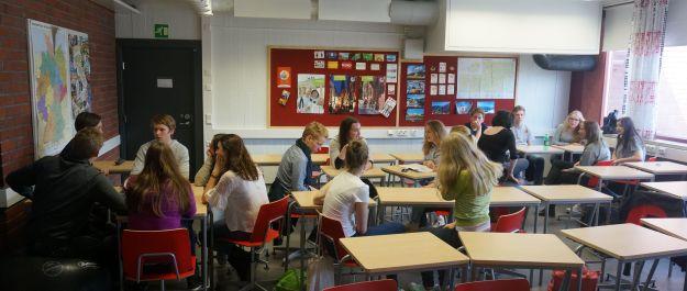 Deutschunterricht in unserer Partnerschule Lauttasaaren yhteiskoulu